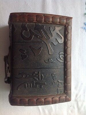 Japanese Wood And Leather Box Antique