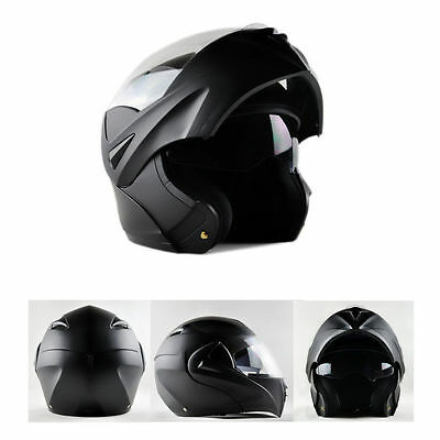 Dual Visor Flip Up Helmet Racing Motorcycle Bike Motor Full Face Helmet