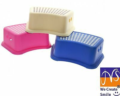 Non Slip Strong Utility Foot Stool Bathroom Kitchen Step Up Grip 3 Colours-84201