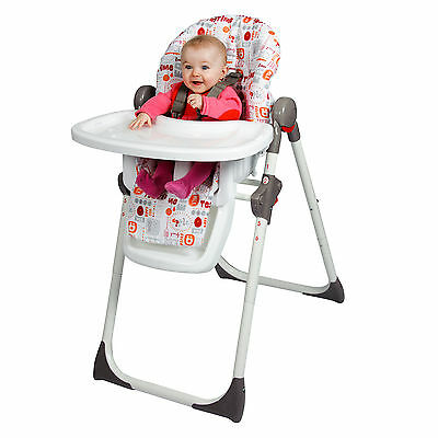 New Red Kite Feed Me Deli Hi Lo Adjustable Highchair Baby Feeding Chair Yummy