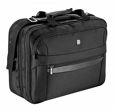 "WENGER Business Basic Triple Compartment Briefcase 17"" Tasche Aktentasche Black"