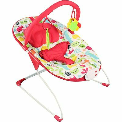 New Red Kite Cozy Bounce Adjustable Baby Bouncer Chair Safari From Birth