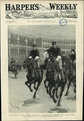 Cossack F Troop Cavalry Military Tournament NYC 1897 vintage newsprint Cover