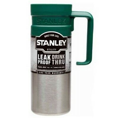 Stanley Travel Thermos Mug 473ml Double Insulated Stainless Outer - Hot Cold 1hr