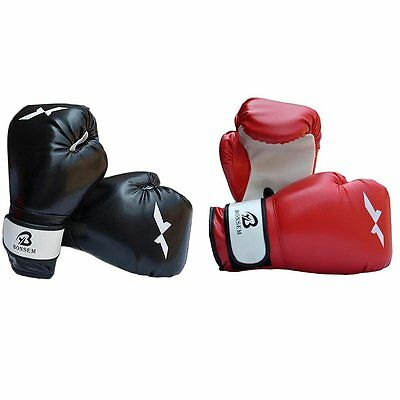OUTAD Boxing Gloves Bag Focus Mitt Combo Kit Black Red Adult Men Women AU STOCK!