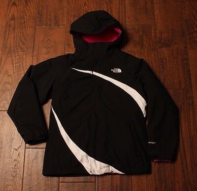 THE NORTH FACE Girls 2 in 1 Hyvent Black Ski Coat and Fleece Jacket Size M 10-12