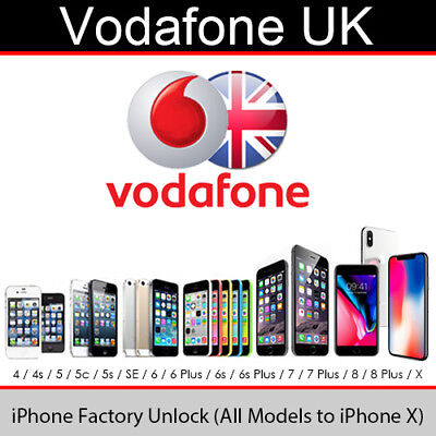 Vodafone UK iPhone Factory Unlock Service (All Models Supported)