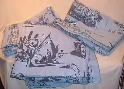 """3 Blue 66""""x 80"""" U-Haul Moving Blankets Furniture Pads Protective Covers"""