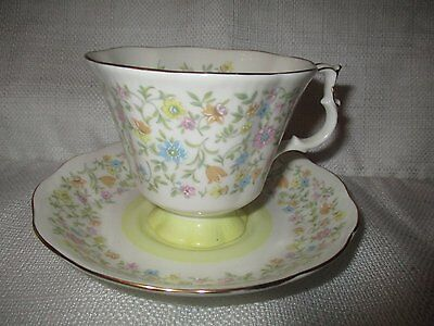 """ROYAL ALBERT Harmony Series """"Arabesque"""" Cup and Saucer"""