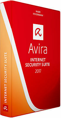 Avira Antivirus Internet Security Suite 2017 3 PCs 1 Year Activation Licence Key