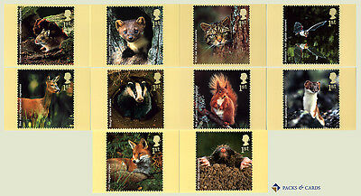 2004 Woodland Animals PHQ 268 - Mint Set of 10 Royal Mail Post Cards