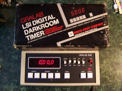 GRALAB LSI Digital Darkroom Timer Model 500 w/foot switch.
