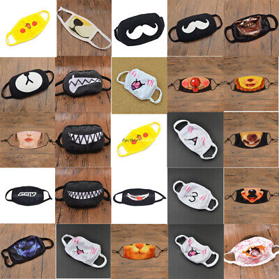 Unisex EXO BTS KPOP GOT7 Bangtan Bear Mouth Face Mask Anti-Dust Respirator Gift