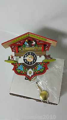 Black Forest Style Swiss House Clock Battery Operated Not Cuckoo