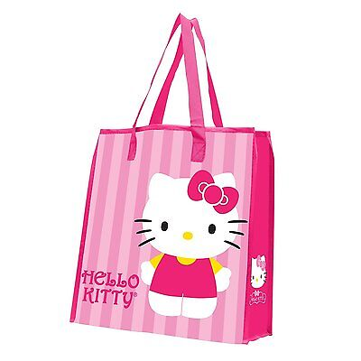 Vandor Hello Kitty Stripes Large Recycled Reusable Shopper Tote Bag