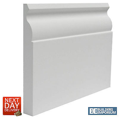 Primed MDF Skirting OGEE 145mm x 18mm 4.2 Meter Long