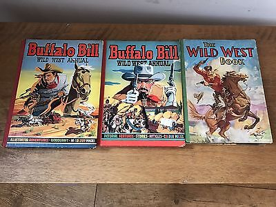 Vintage Buffalo Bill Wild West Annual & The Wild West Book 1950s