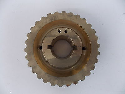 "Nos Boom Truck Large Brass Worm Turntable Gear 8"" 30 Tooth 2.25 "" Id 19 Lbs"