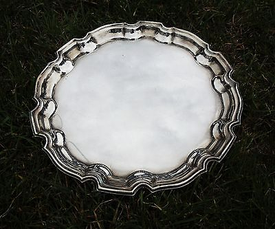 Antique Silver Plated Platter/Serving Plate, Drinks Tray, Stamped PSL, Edwardian