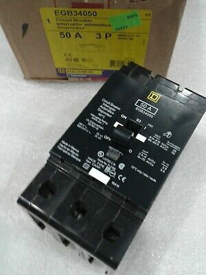 EGB34050 Square D SQD Type EGB Circuit Breaker 3 Pole 50 Amp 480V (New)