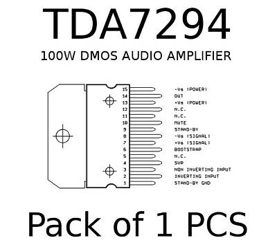 TDA7294 TDA7294V 100V-100W DMOS Audio High Power Amplifier With Mute