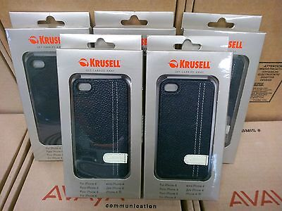 Wholesale lot of 5 Krussel black stylish Case for iPhone 4