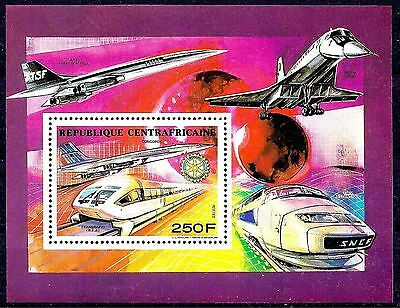 Central Africa SNCF TGV Atlantique Speed Trains Concorde Plane Tupolev Rotary **
