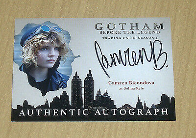 2017 Cryptozoic Gotham season 2 autograph card Camren Bicondova as SELINA KYLE