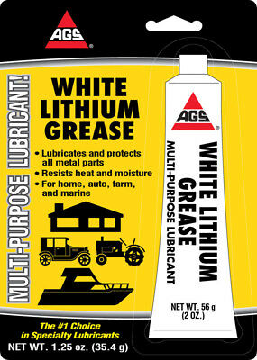 AGS WHITE LITHIUM GREASE Multi Use Lubricant Lube AUTO FARM MARINE HOME 1.25 oz