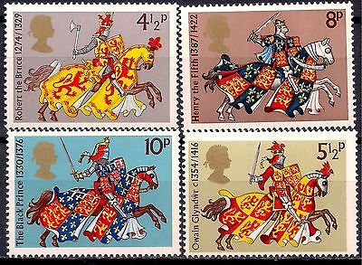 GB 1974 Knights Horses Armor Sword Military 4v set MNH