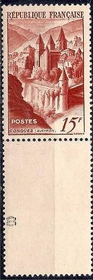 France 1947 Abbey Buildings Architecture History Heritage Religion 1v MNH