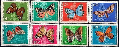 Hungary 1969 Butterflies Insects Nature 8v set MNH