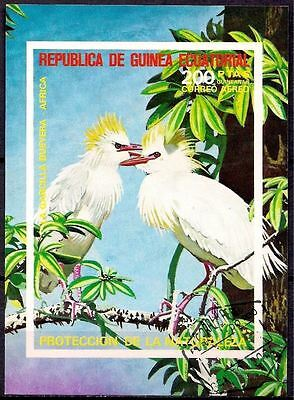 Equatorial Guinea 1976 African Birds Ibis Nature Wildlife m/s Imperf MNH