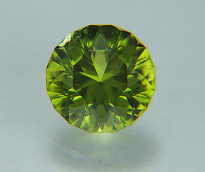 Peridot. Precision Cut  Bright Angle. 9mm. 3.05cts. Very Nice....