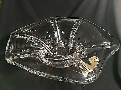 "Seviers Large Art Glass Bowl , France, !4lbs , 15"" across"