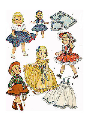 """Toni by Ideal 19"""" Doll Clothing PATTERN 3729 Western Cowgirl outfit Boots Hat"""