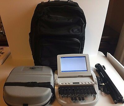 Stenograph Wave Steno Student Writer With Stand Charging Cord Roller Bag Case