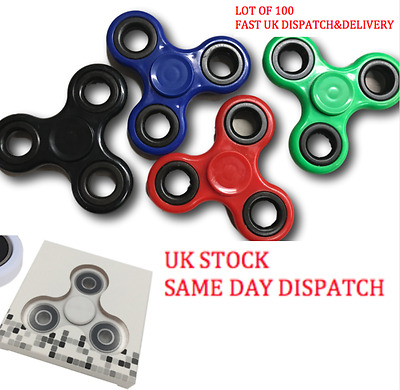 WHOLESALE JOBLOT Fidget Spinner Hand Finger Bar Pocket Desk Focus LOT OF 100