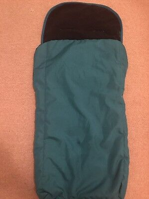 Green/teal O'baby Footmuff Great Condition