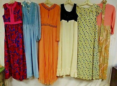 Lot of 15 Vintage 60s 70s Dresses Mini Maxi Sequin Shorts Wiggle Shift Fit Flare