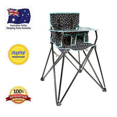 Baby Camping High Chair Folding Portable Travel Light Adjustable Seat