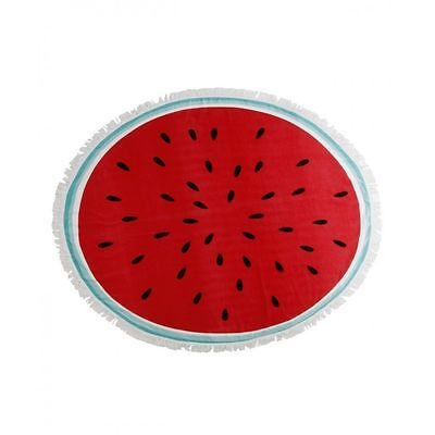 Watermelon Beach Picnic Round Towel Large Swimming Holiday Blanket Travel Bag