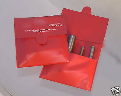 4 Micro Brand Edge Finder S One Set 1/4, 3/8, 1/2, 3/4 Shank  By Fisher Usa