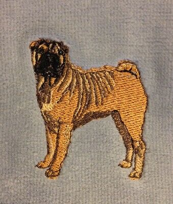 Shar Pei Hand Towel, Embroidered, Custom, Personalized, Dog, Shar Pei