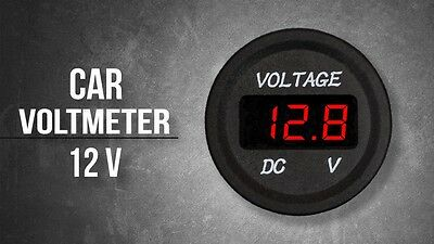 DC 12V Red LED Panel Digital Voltage Meter Display Voltmeter Car Motorcycle Boat