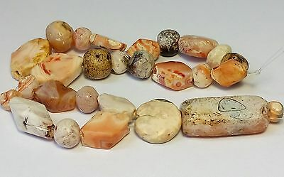 A Beautiful Strand Of Ancient Carnelian Patinized Agate Beads