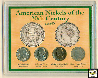 American Nickels of the 20th Century 4 Coin Collector Set in Hard Case (OOAK)