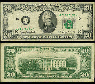 FR. 2070 J* $20 1969 C Federal Reserve Note Kansas City Fine+ Star