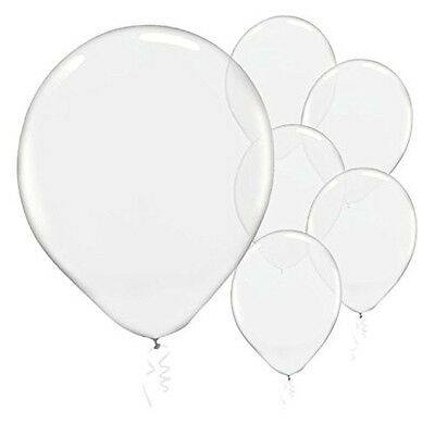 10 Clear 12Cm Latex Balloons Party Decorations Wedding Engagement Baby Shower