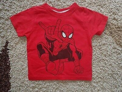 Baby Clothes- Baby Boys Red Spiderman Short Sleeve Top , 18-24 Months, M&Co